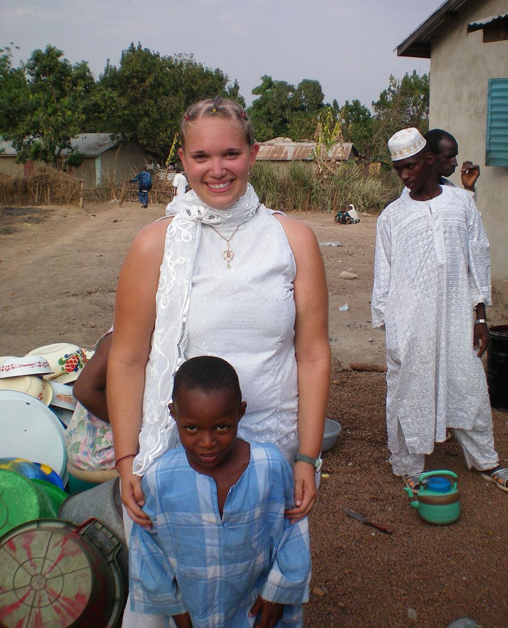 Corinna Lawrence in Doune,Guinea