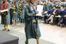 Graduate receives diploma