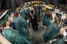 David R. Hopkins congratulates graduates