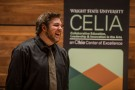 Jeremy Aldridge laughing