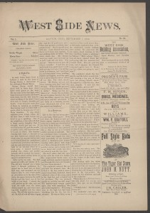 Wright brothers' West Side News from Sept. 7, 1889