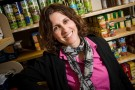 Carline Verlin in Wright State's Friendship Food Pantry