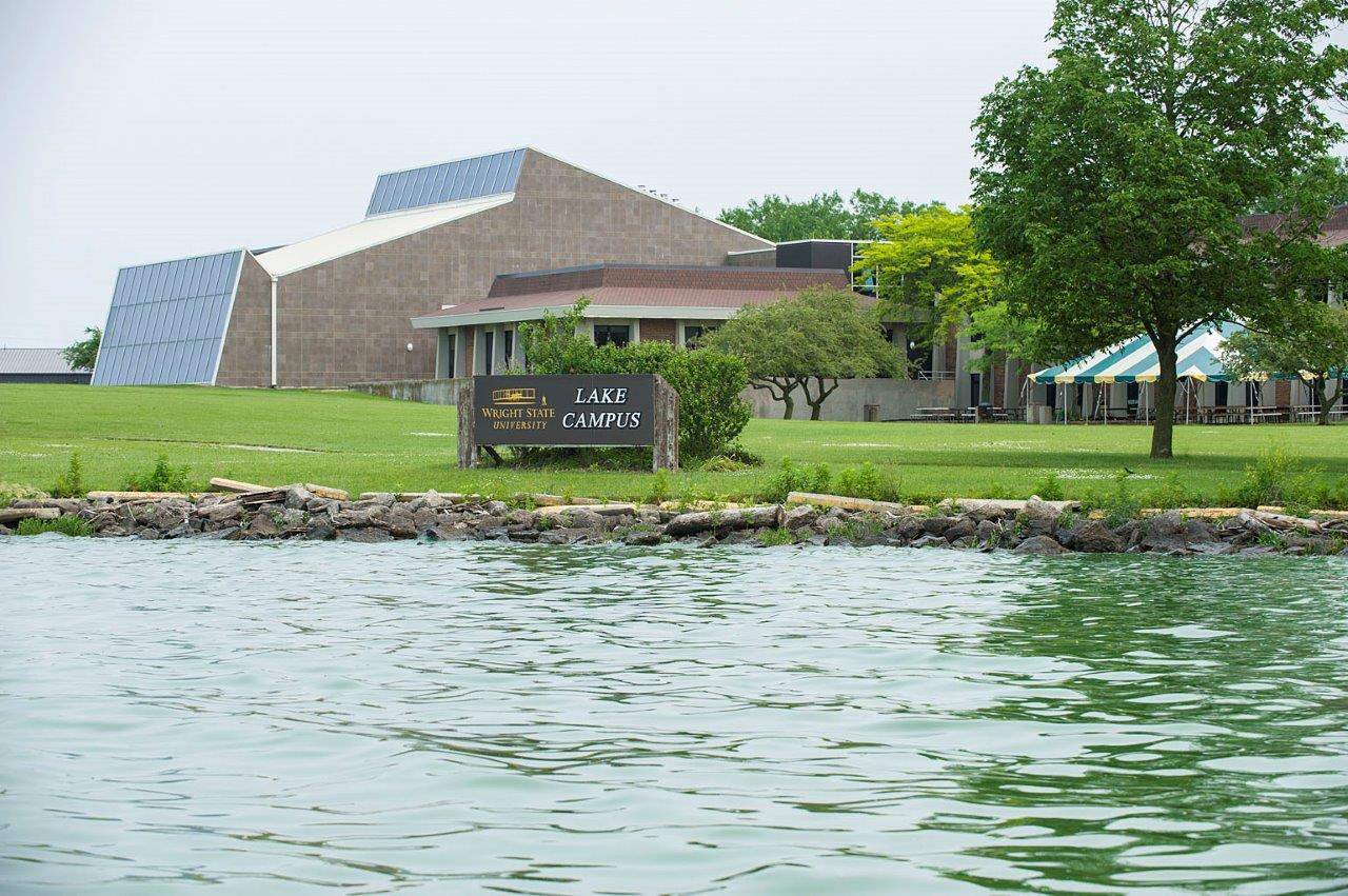 Grand Lake St. Marys and part of the Lake Campus