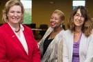 Nan Whaley, Kelli Zaytoun and Kimberly Barrett