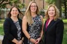 Stephanie Goodwin, Jennie Buckwalter and Jennie Gallimore on campus